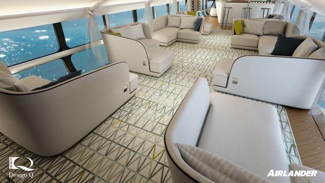 El Airlander tiene capacidad para 16 personas más siete tripulantes